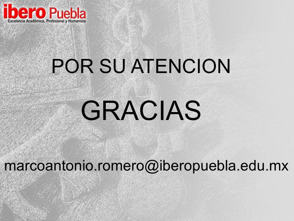 POR SU ATENCION GRACIAS marcoantonio.romero@iberopuebla.edu.mx