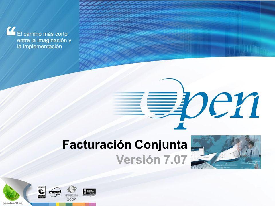 Facturación Conjunta Versión 7.07