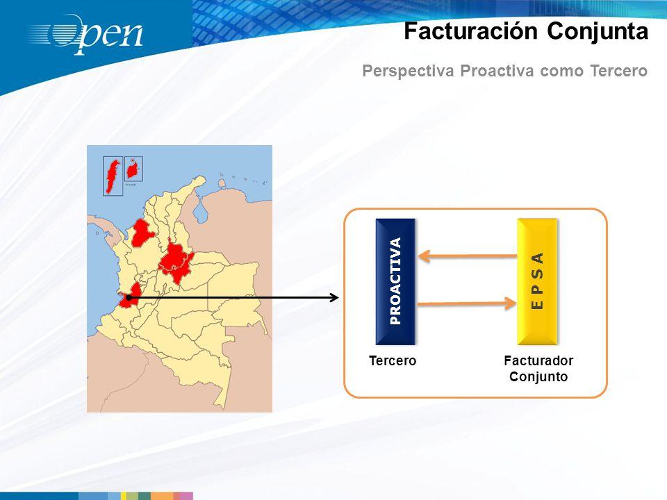 Facturación Conjunta Perspectiva Proactiva como Tercero PROACTIVA E P S A TerceroFacturador Conjunto