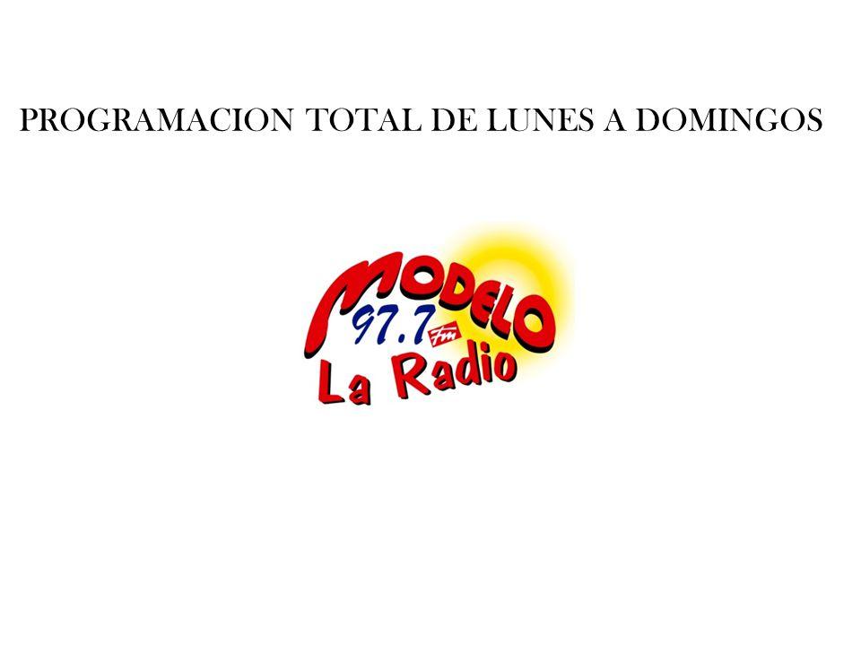 PROGRAMACION TOTAL DE LUNES A DOMINGOS