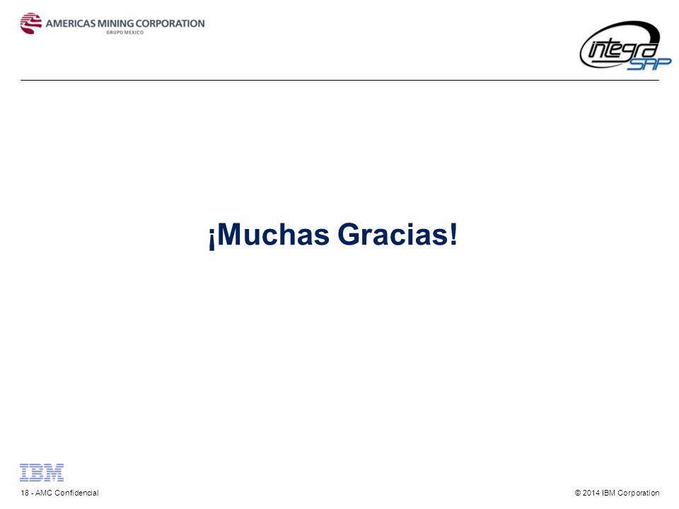 © 2014 IBM Corporation18 - AMC Confidencial ¡Muchas Gracias!