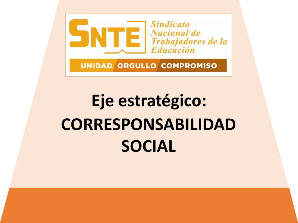 CORRESPONSABILIDAD SOCIAL Eje estratégico: 1