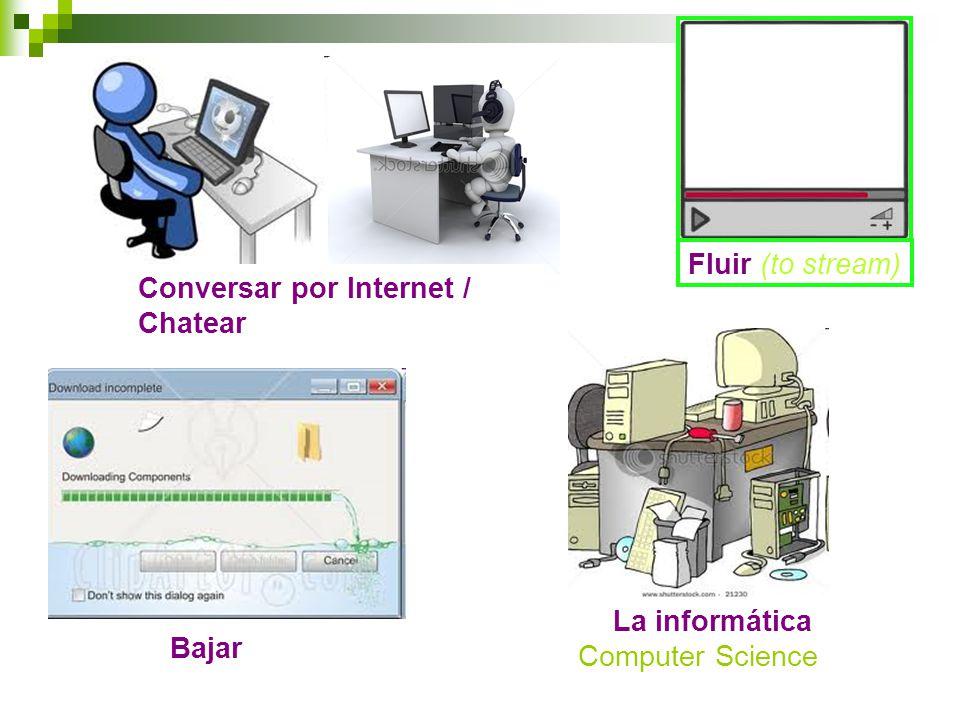 Conversar por Internet / Chatear Bajar La informática Computer Science Fluir (to stream)