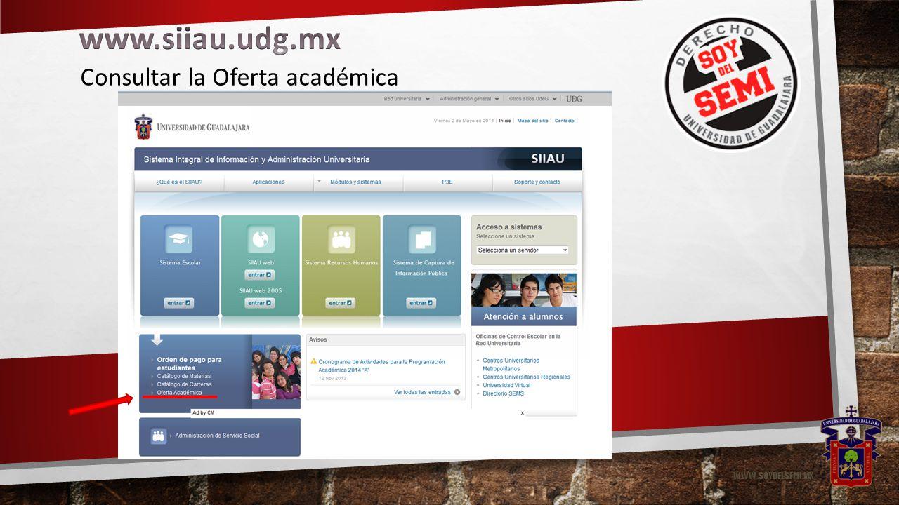 WWW.SOYDELSEMI.MX Consultar la Oferta académica