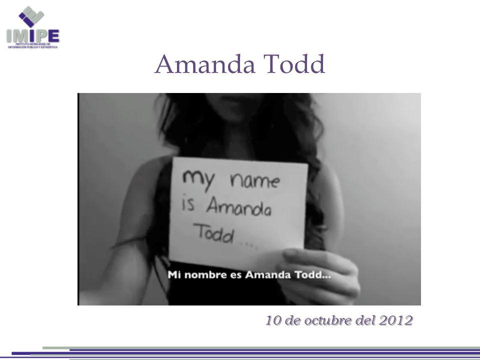 Amanda Todd 10 de octubre del 2012