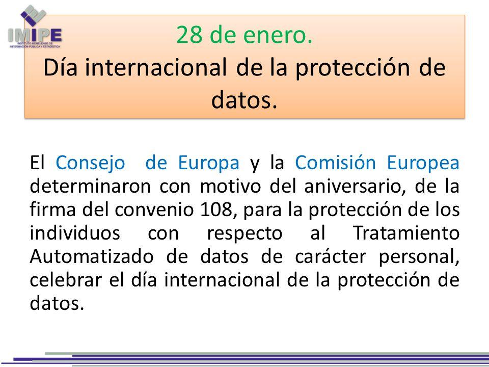 28 de enero. Día internacional de la protección de datos.