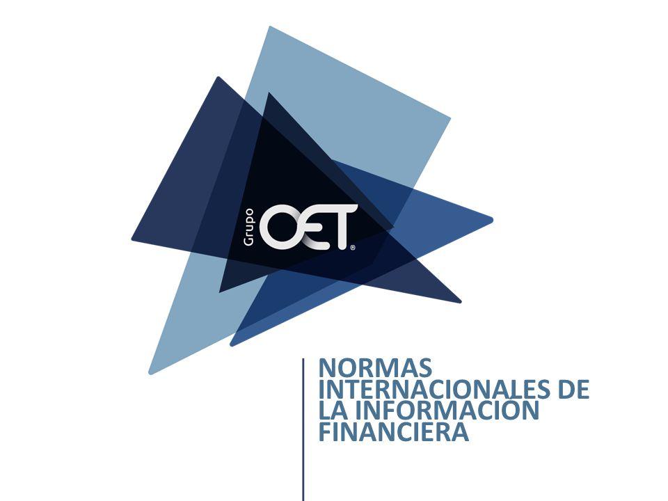 NORMAS INTERNACIONALES DE LA INFORMACIÓN FINANCIERA