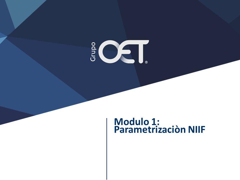 Modulo 1: Parametrizaciòn NIIF