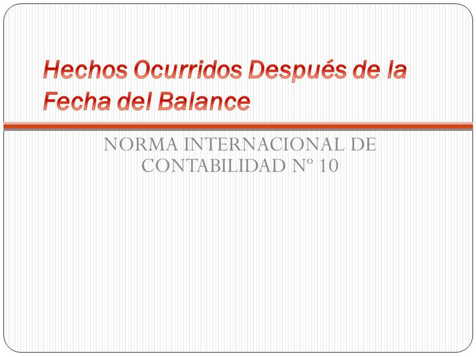 NORMA INTERNACIONAL DE CONTABILIDAD Nº 10