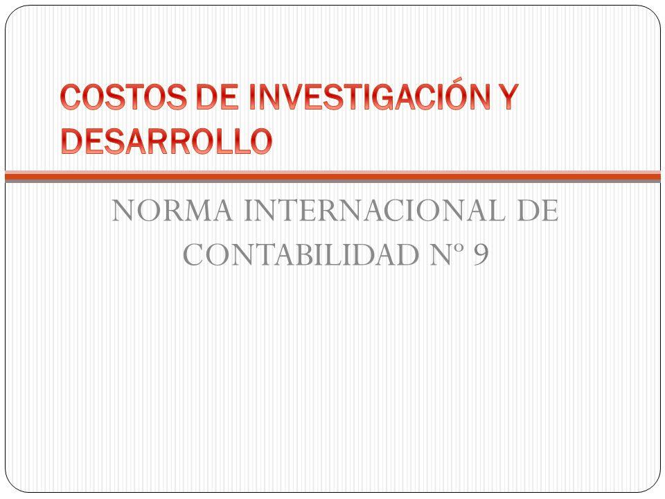 NORMA INTERNACIONAL DE CONTABILIDAD Nº 9