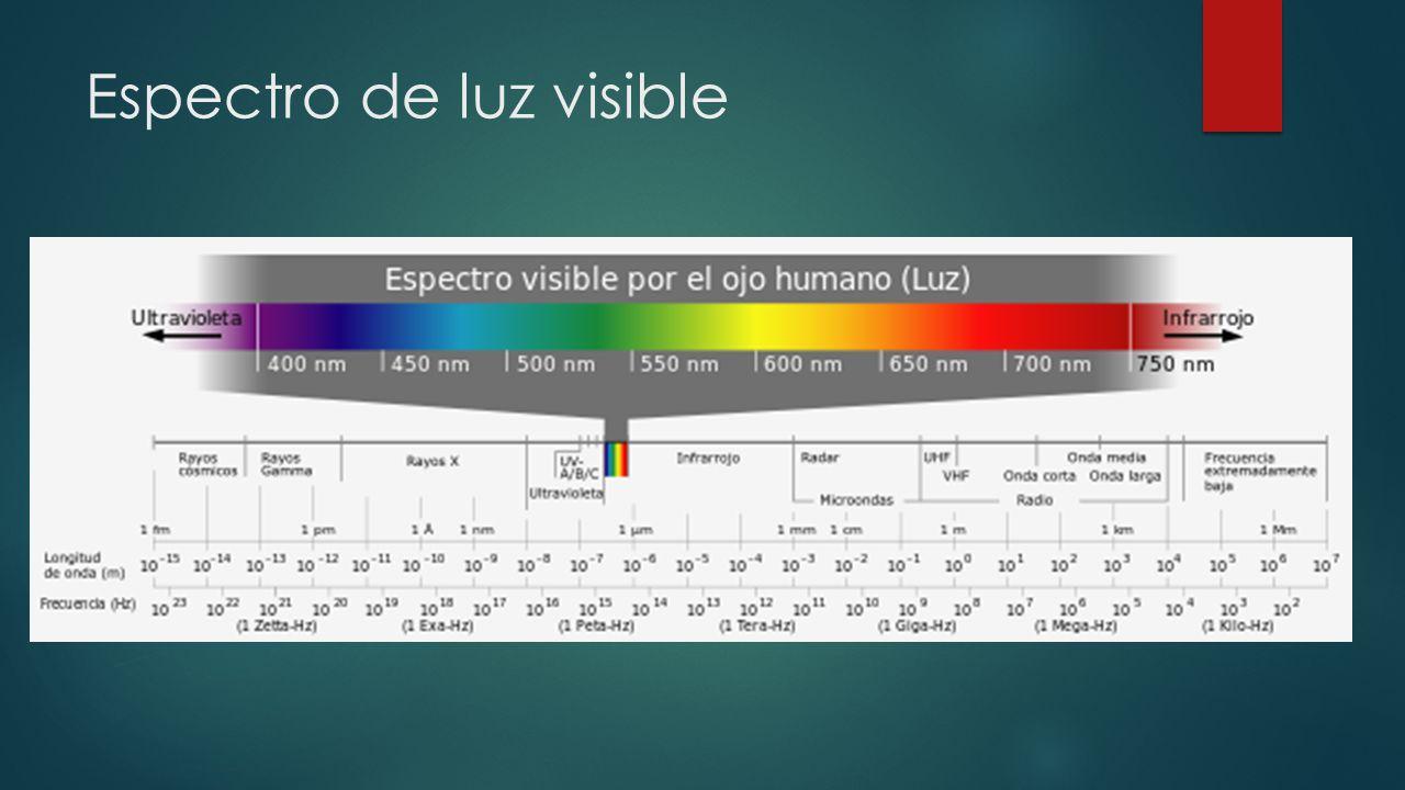 Espectro de luz visible