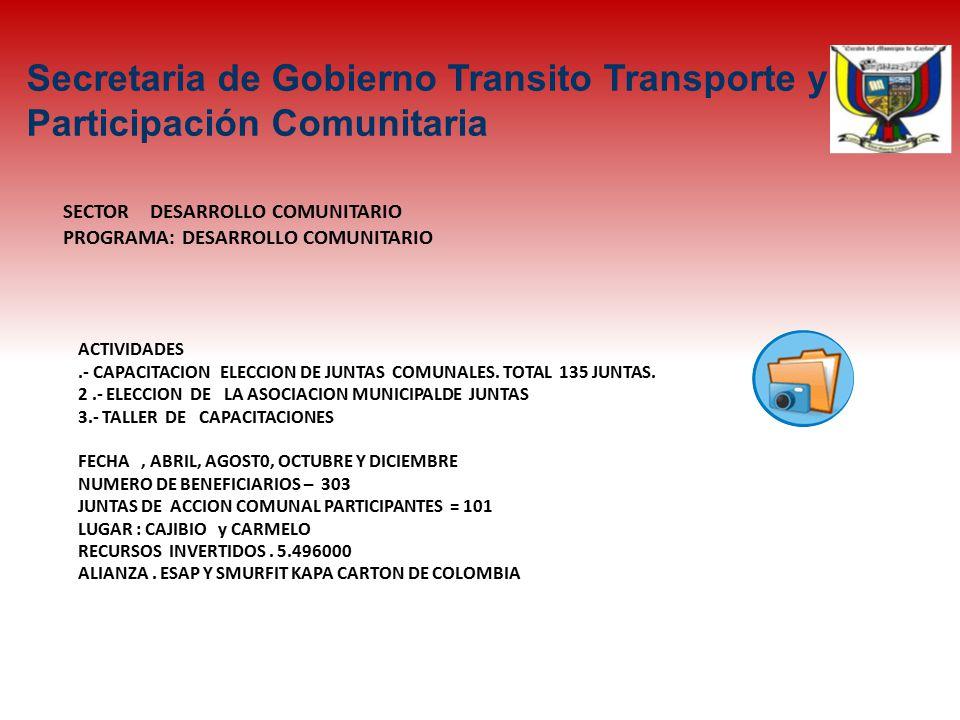 SECTOR DESARROLLO COMUNITARIO PROGRAMA: DESARROLLO COMUNITARIO ACTIVIDADES.- CAPACITACION ELECCION DE JUNTAS COMUNALES.