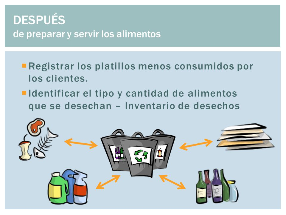  Registrar los platillos menos consumidos por los clientes.