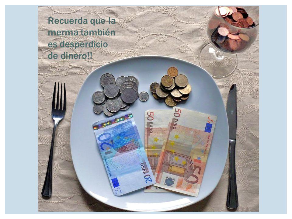 Recuerda que la merma también es desperdicio de dinero!!