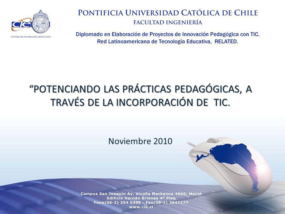 POTENCIANDO LAS PRÁCTICAS PEDAGÓGICAS, A TRAVÉS DE LA INCORPORACIÓN DE TIC.