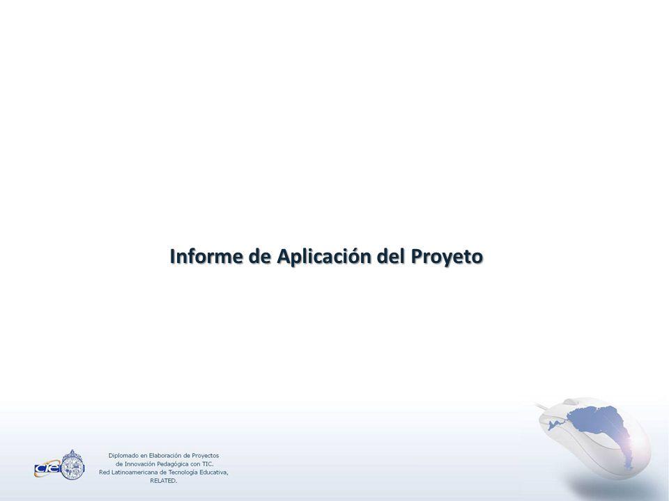 Informe de Aplicación del Proyeto