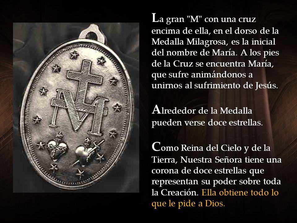 La parte dorsal de la Medalla Milagrosa