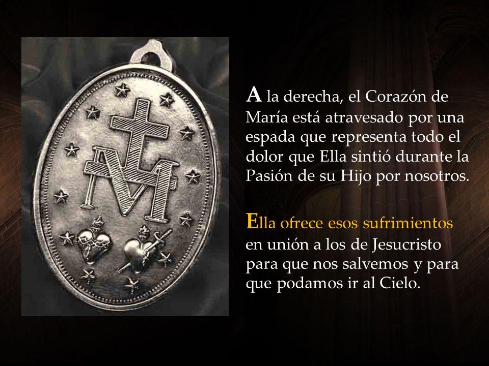 L ado a lado están el Corazón de Jesús y el Corazón de María.