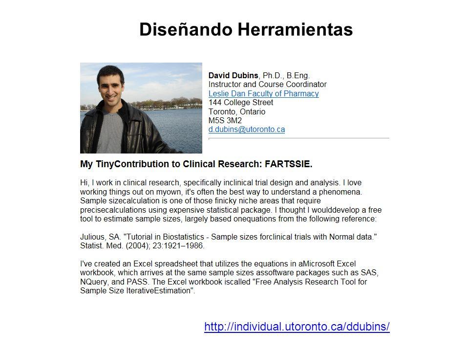 http://individual.utoronto.ca/ddubins/ Diseñando Herramientas