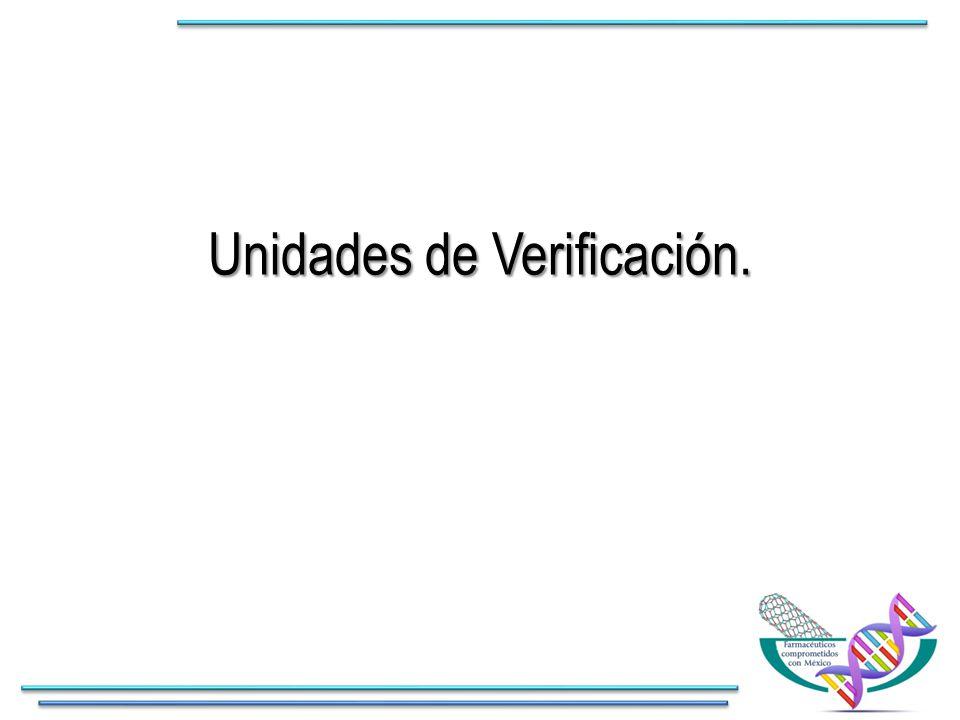 Unidades de Verificación.