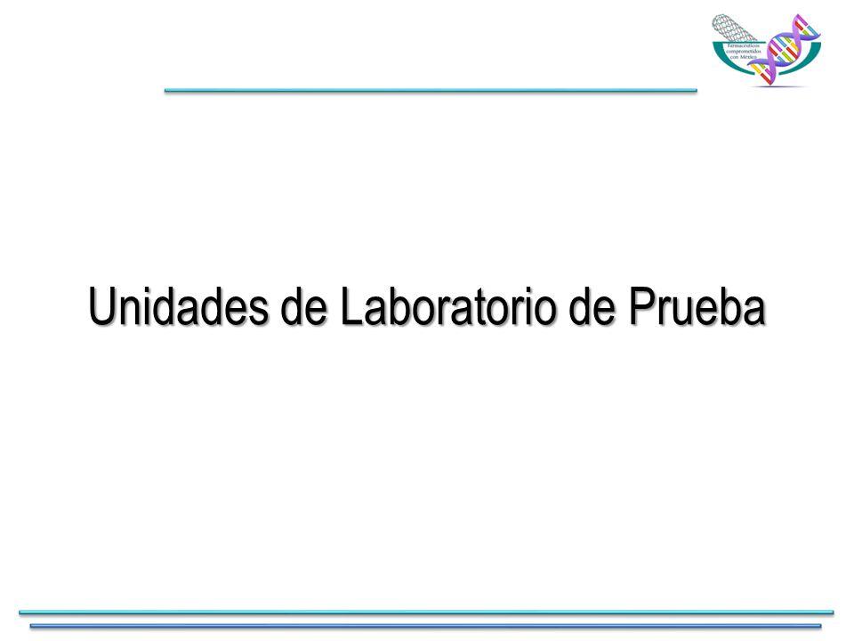 Unidades de Laboratorio de Prueba