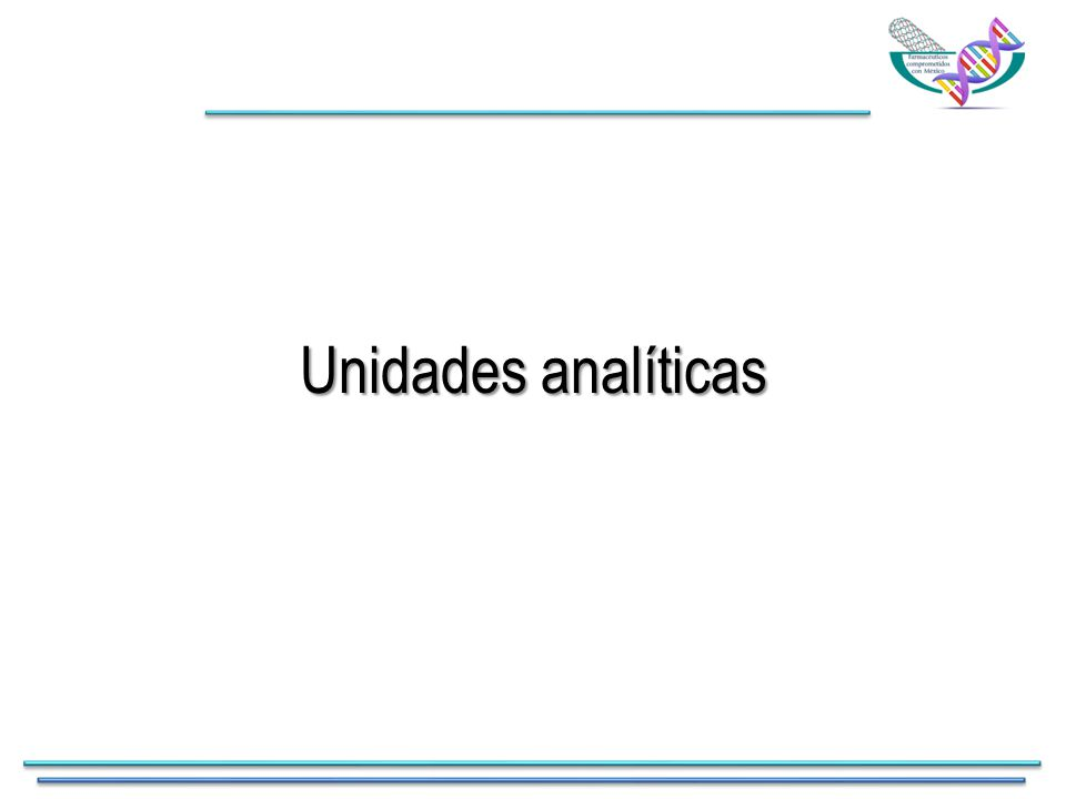 Unidades analíticas