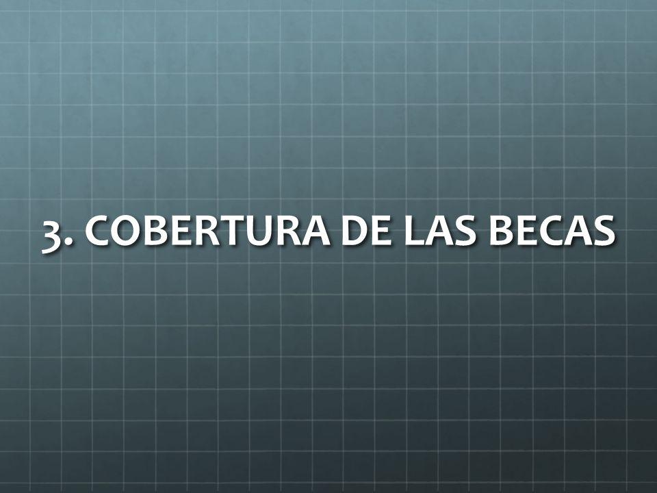 3. COBERTURA DE LAS BECAS
