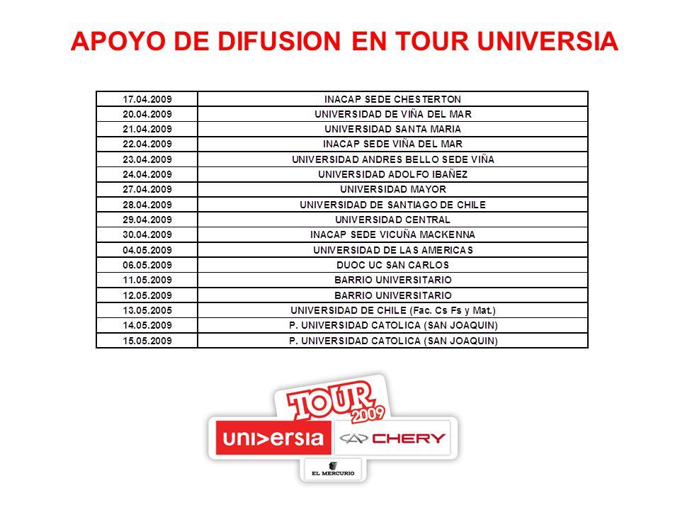 APOYO DE DIFUSION EN TOUR UNIVERSIA