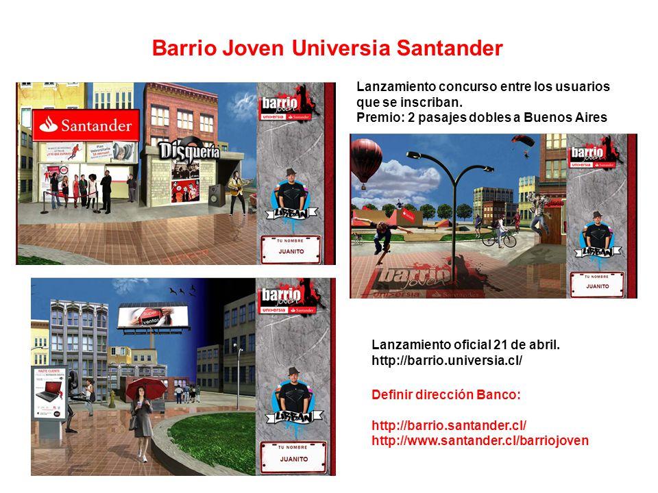 Barrio Joven Universia Santander Lanzamiento oficial 21 de abril.