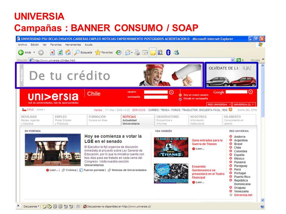 UNIVERSIA Campañas : BANNER CONSUMO / SOAP