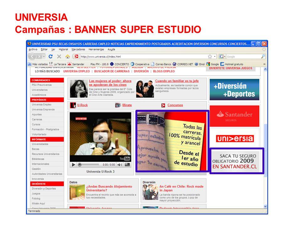 UNIVERSIA Campañas : BANNER SUPER ESTUDIO