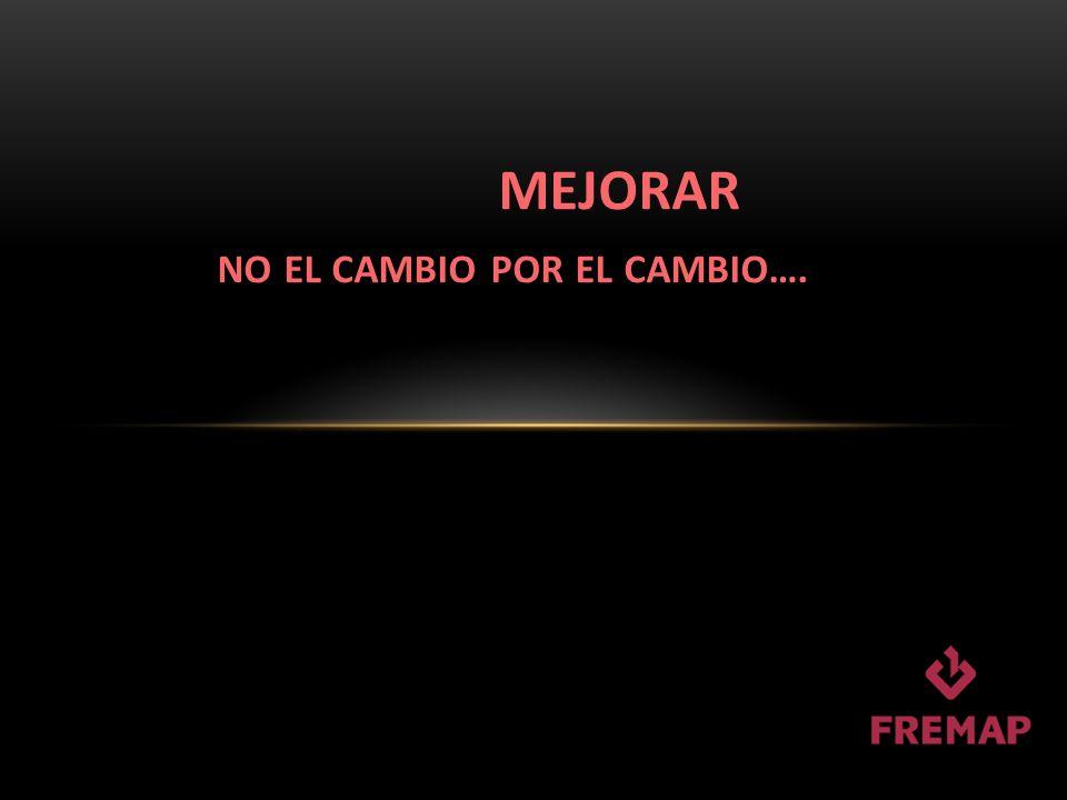 MEJORAR NO EL CAMBIO POR EL CAMBIO….