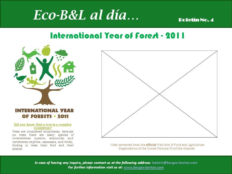 Eco-B&L al día… Boletín No.