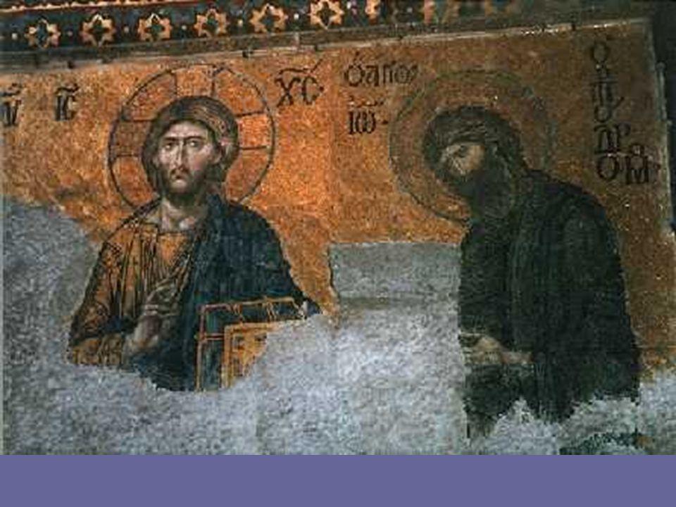 La DEESIS, en este tema, uno de los más frecuentes del arte bizantino tardío, el Cristo Juez aparece flanqueado por la Virgen y San Juan, implorando el perdón de los pecados de la Humanidad: con esta imagen, la visión del Pantocrátor, sin perder su majestad, parece estar más cerca de la debilidad del ser humano.