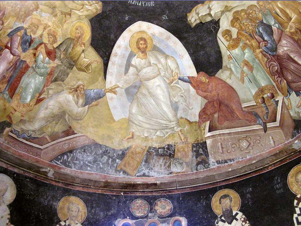 La ANASTASIS: el descenso de Jesús al limbo, que en Bizancio sustituyó al tema de la Resurrección.