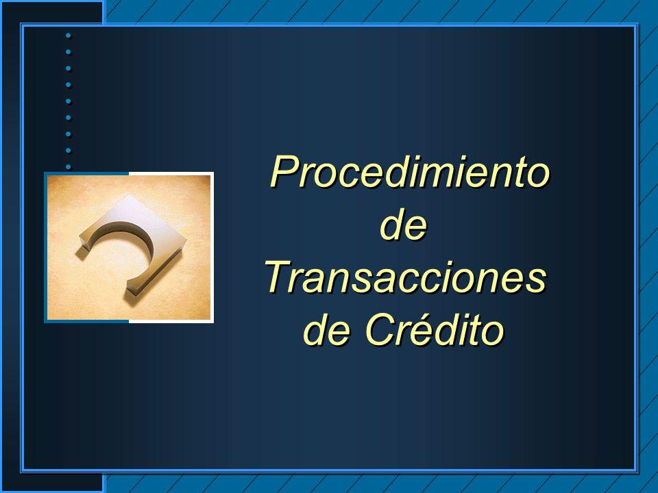 Procedimiento de Transacciones de Crédito