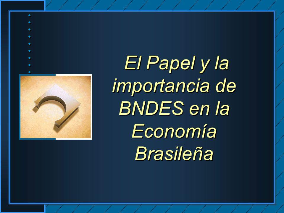 El Papel y la importancia de BNDES en la Economía Brasileña