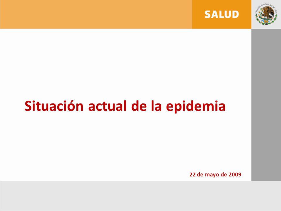 Situación actual de la epidemia 22 de mayo de 2009
