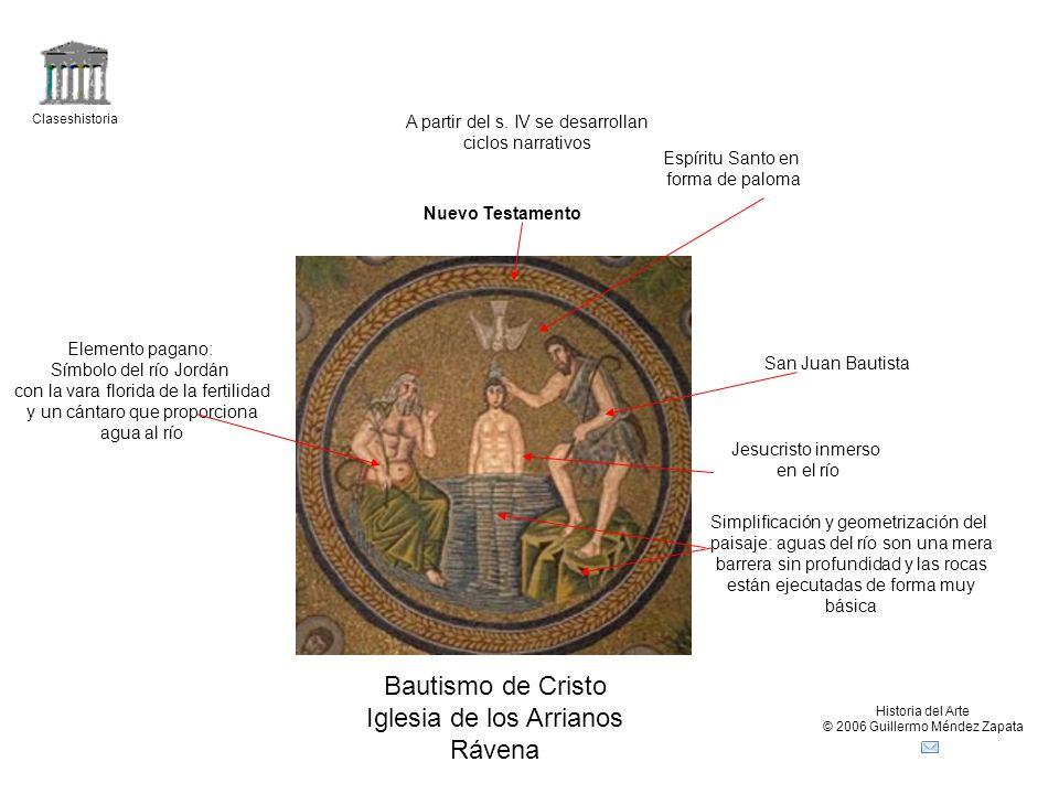 Claseshistoria Historia del Arte © 2006 Guillermo Méndez Zapata Bautismo de Cristo Iglesia de los Arrianos Rávena Nuevo Testamento A partir del s.