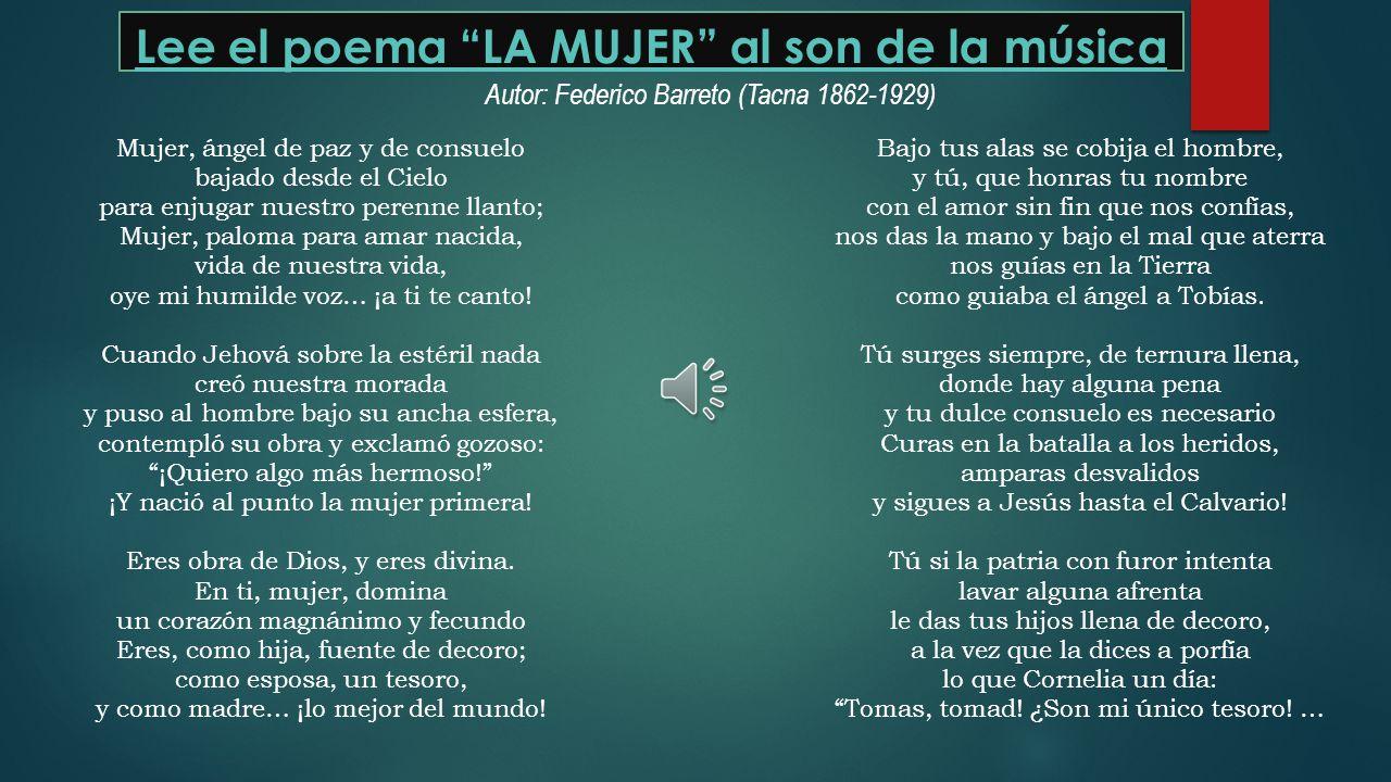 Poetas: Tacna, Perú y Universal El cantor del cautiverio Federico Barreto César Vallejo Paredes, R.