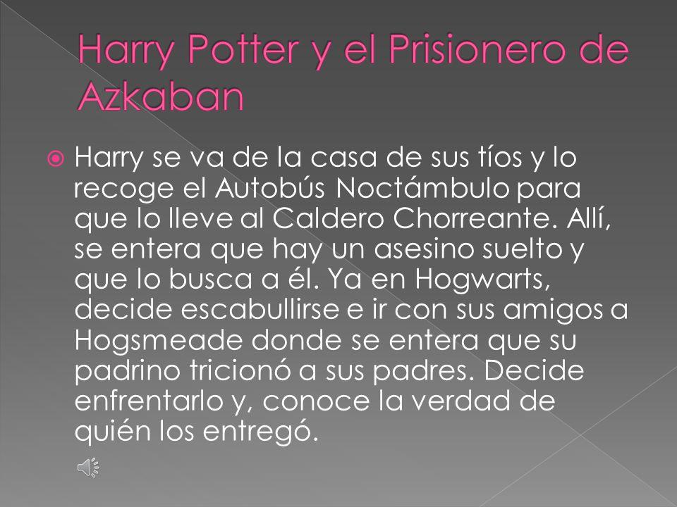  En el segundo año, Harry recibe una visita de un elfo doméstico que advierte que no vaya a la escuela ese año, pero Harry no hace caso.