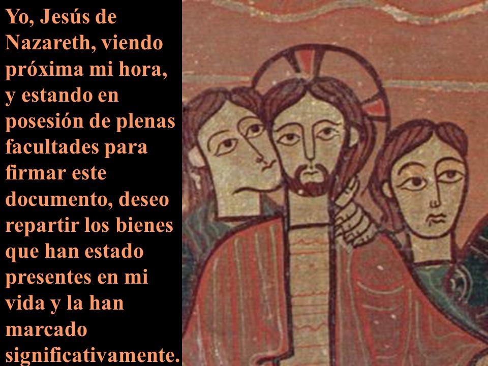EL TESTAMENTO DE JESÚS DE NATZARETH