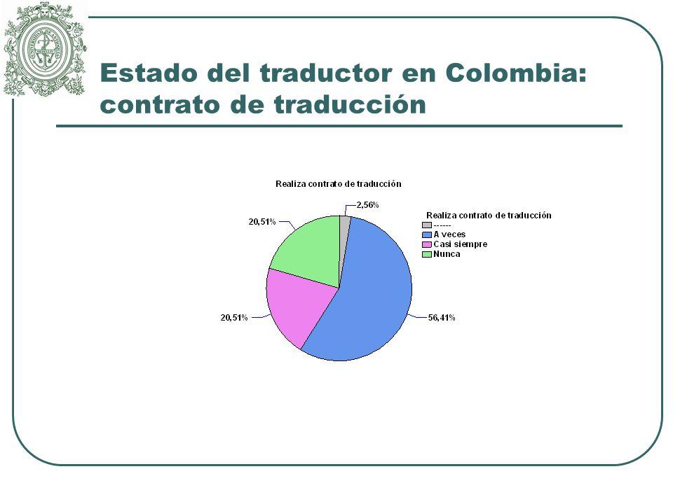 Estado del traductor en Colombia: contrato de traducción