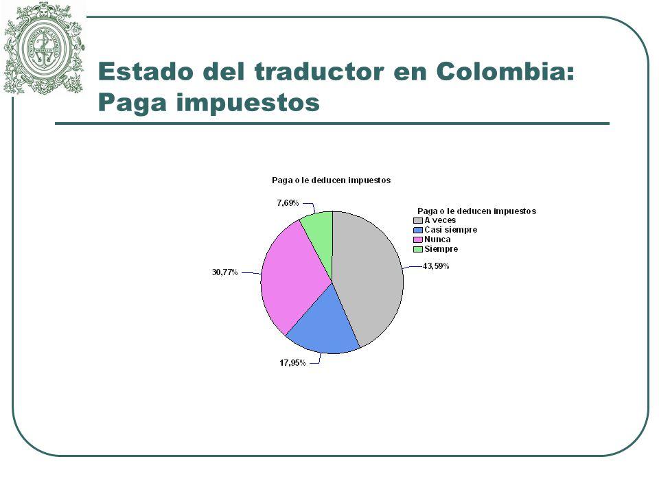 Estado del traductor en Colombia: Paga impuestos