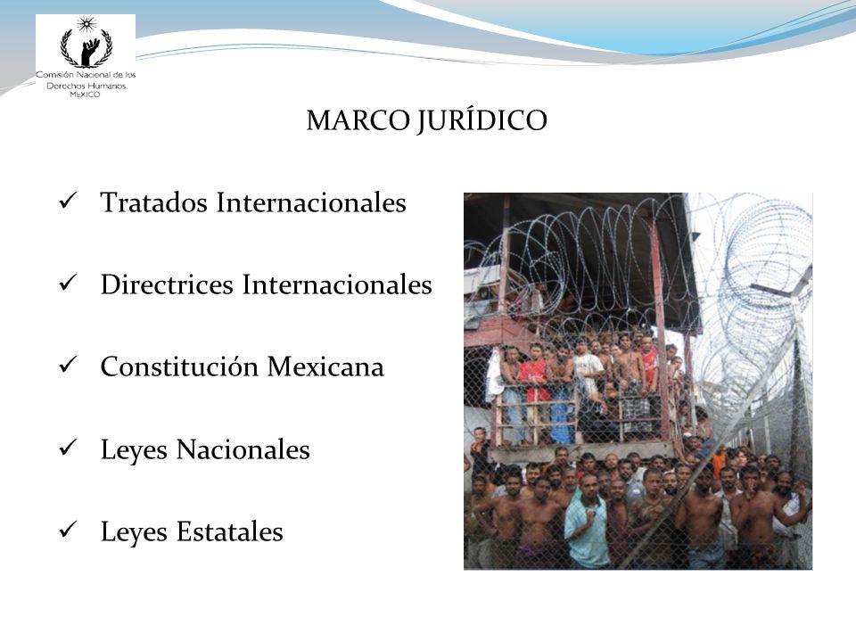 MARCO JURÍDICO Tratados Internacionales Directrices Internacionales Constitución Mexicana Leyes Nacionales Leyes Estatales