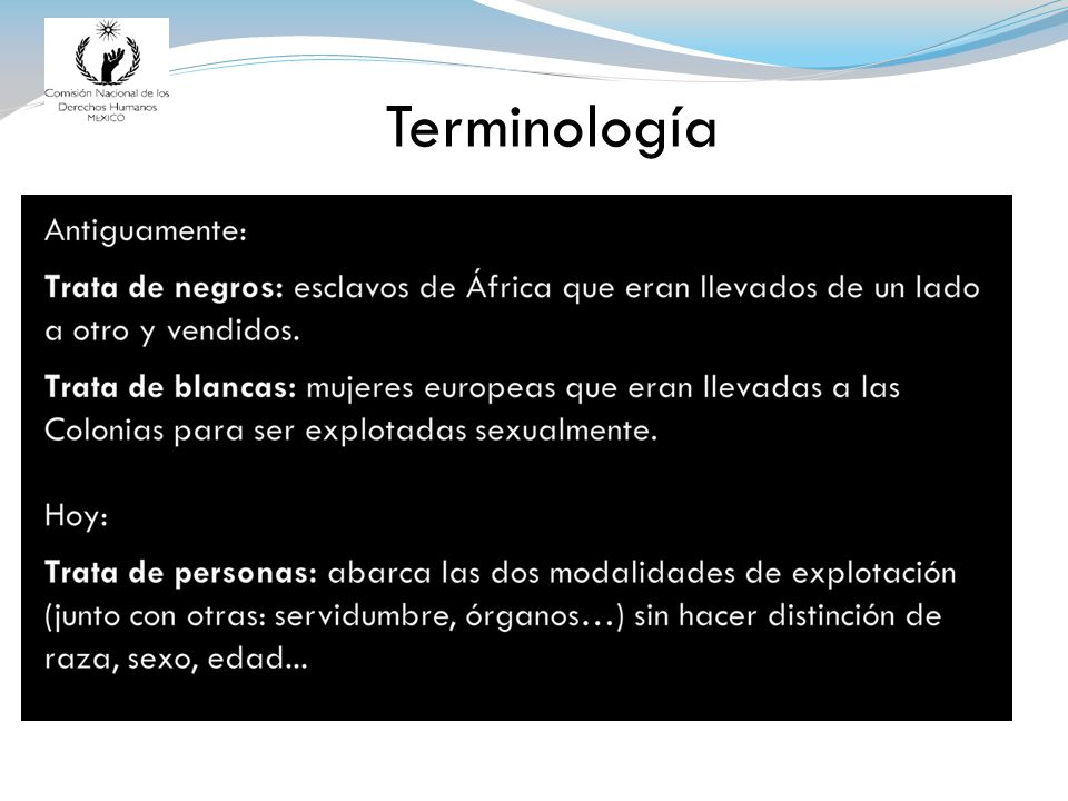 . Terminología