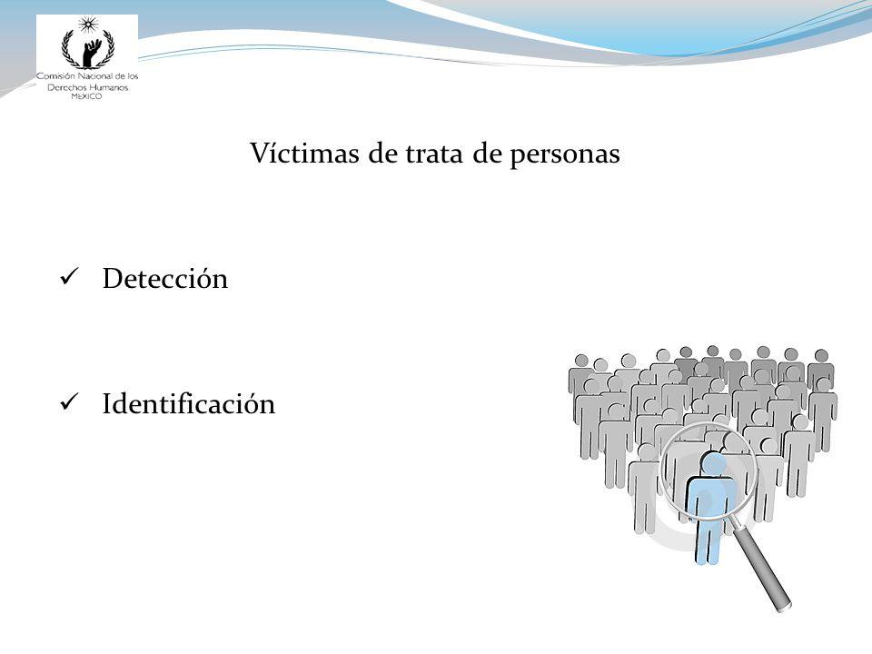 Víctimas de trata de personas Detección Identificación