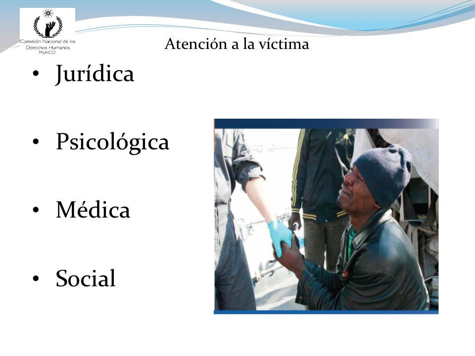 Atención a la víctima Jurídica Psicológica Médica Social