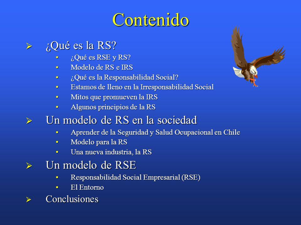 Contenido  ¿Qué es la RS. ¿Qué es RSE y RS ¿Qué es RSE y RS.
