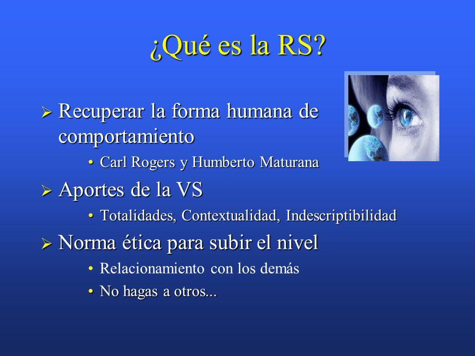 ¿Qué es la RS.